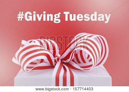 Red And White Giving Tuesday Gift.