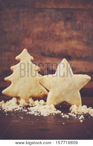 Christmas Shapes Shortbread Cookies.