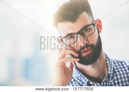 Handsome Man On Phone