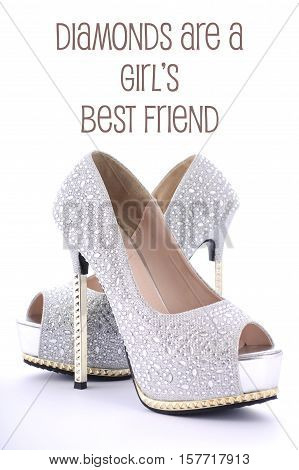 Diamonds Are A Girls Best Friend Shoes.