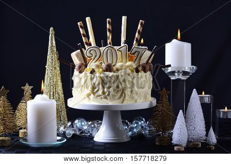 Happy New Year White Chocolate Cake