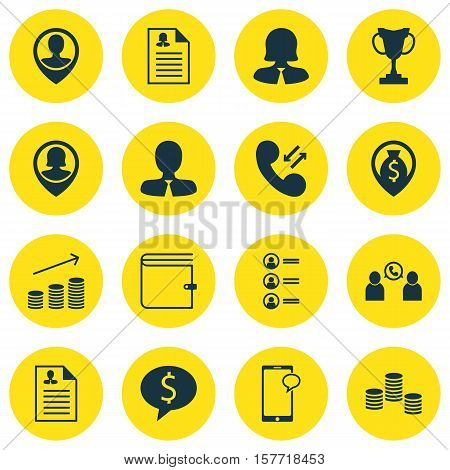 Set Of Management Icons On Job Applicants, Female Application And Curriculum Vitae Topics. Editable
