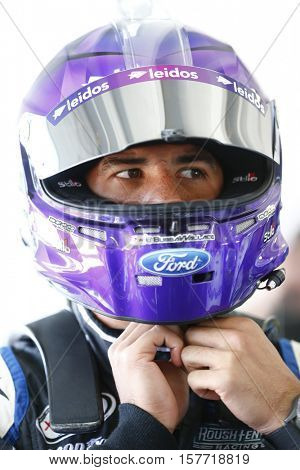 Homestead, FL - Nov 18, 2016: Darrell Wallace Jr (6) hangs out in the garage during practice for the Ford EcoBoost 300 at the Homestead-Miami Speedway in Homestead, FL.