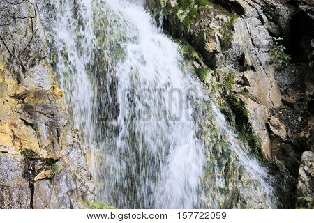 Water torrents through Stanghe, a crevice in Racines near Bolzano in northern Italy