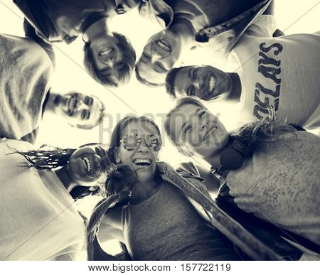 Diverse Group People Huddle Concept