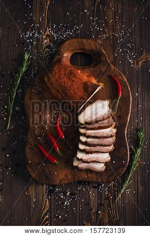 Sliced Smoked Brisket With Pepper