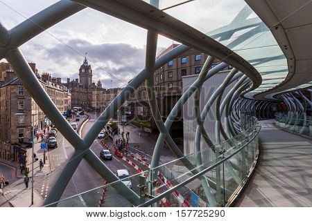 Leith Street Bridge In Edinburgh