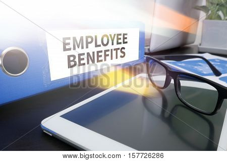 Employee Benefits Man Working On Tablet Technology Communication