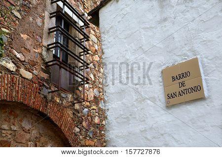 Caceres juderia saint Antonio barrio in Spain Jewish quarter