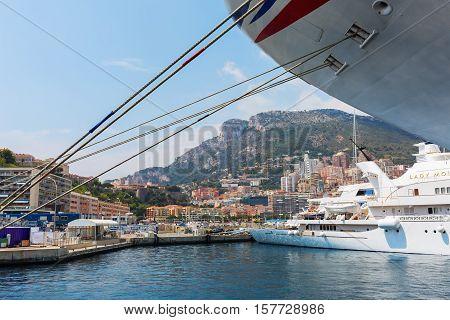 Cruise Ship Mv Azura In The Port Of Monaco