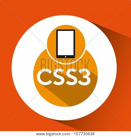 web development smartphone css3 vector illustration eps 10
