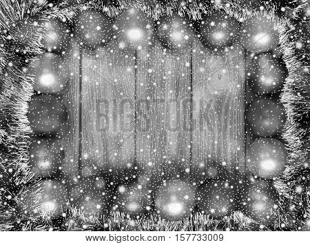 New Year And Christmas  Theme Background Black And White