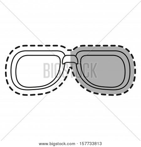Glasses icon. Fashion style accessory eyesight and lens theme. Isolated design. Vector illustration