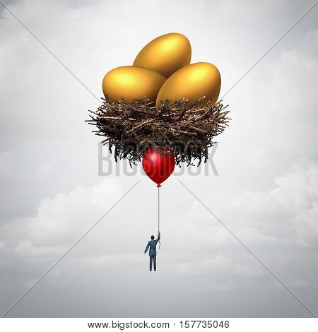 Wealth manager and financial adviser business concept as a retirement savings finance consultant or banking metaphor with 3D illustration elements.
