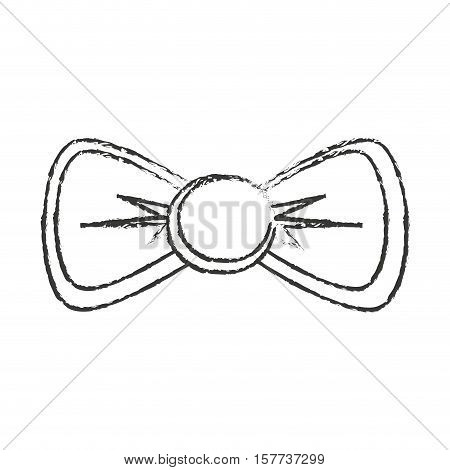 bowtie icon. Hipster style vintage retro fashion and culture theme. Isolated design. Vector illustration