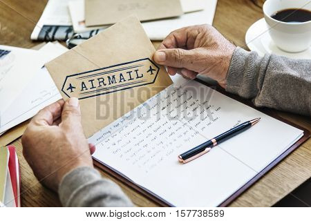 Airmail Correspondence Connection Delivery Communication Concept
