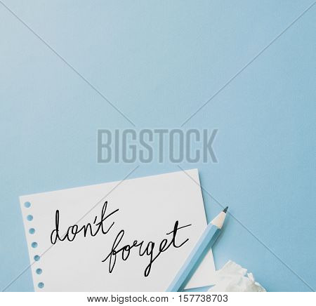 Notebook Paper Reminder Note Concept
