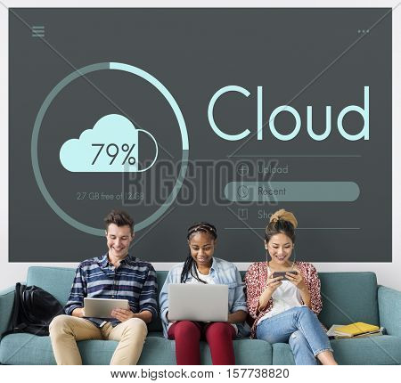 Cloud Storage Modern Technology Concept