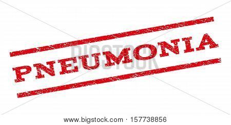 Pneumonia watermark stamp. Text caption between parallel lines with grunge design style. Rubber seal stamp with dirty texture. Vector red color ink imprint on a white background.