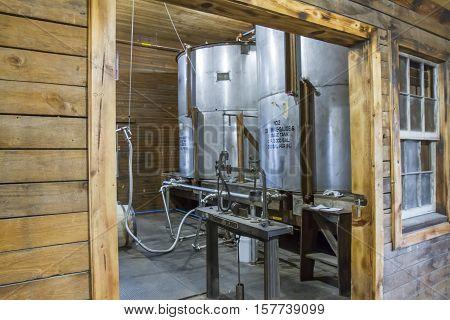 Bourbon Distillery Barrel Filling Room