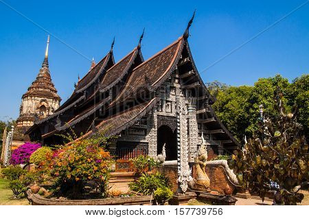 ancient Temple in Chiang Mai of Thailand