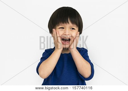 Asian Boy Studio Portrait Concept