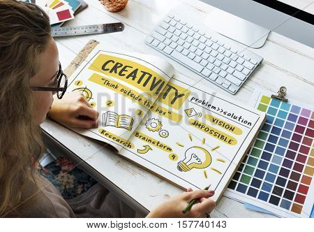 Fresh Ideas Inspire Creativity Concept
