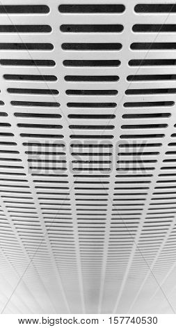 Close up grey sieve steel, texture / background