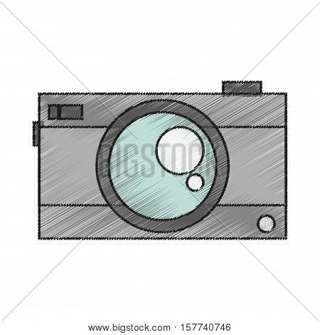 Camera icon. Device gadget technology and electronic theme. Isolated design. Vector illustration