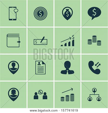 Set Of Human Resources Icons On Successful Investment, Cellular Data And Tree Structure Topics. Edit