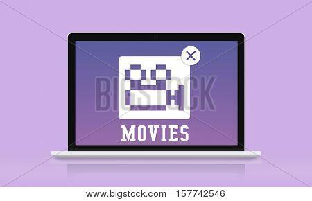 Movie Entertainment Camera Icon Concept