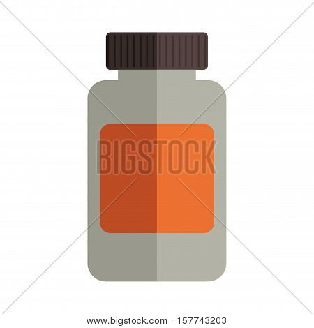 remedy bottle with tap and label vector illustration