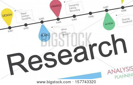 Statistics Research Results Progress Concept