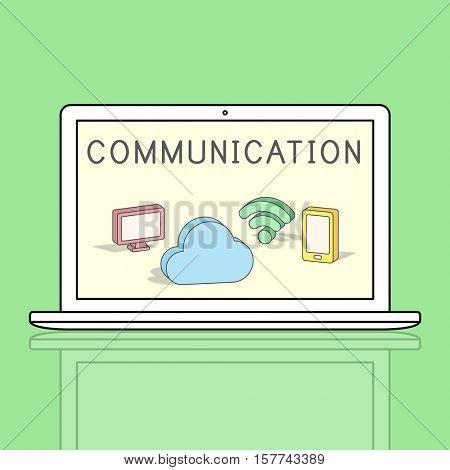 Cloud Network Communication Connection Concept