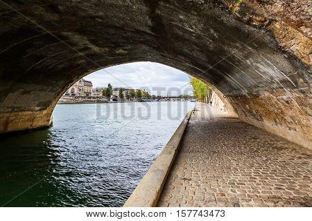 Under A Seine Bridge In Paris