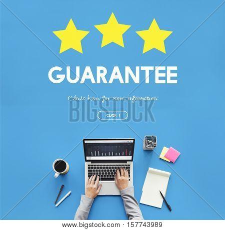 Quality Management Guarantee Assurance Concept