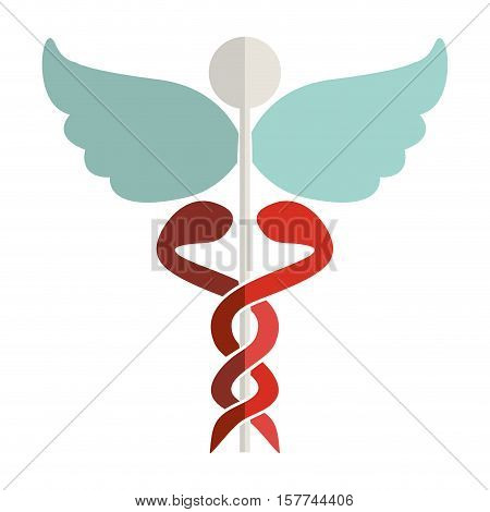 Health symbol with Serpents entwined vector illustration