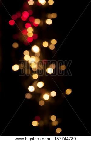 Christmas background. Festive elegant abstract background with bokeh lights and stars copy space