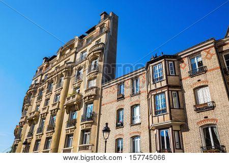 Facade Of An Old Building In Paris