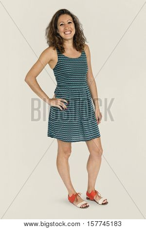 Adult Beauty Casual Cute Natural Woman Concept