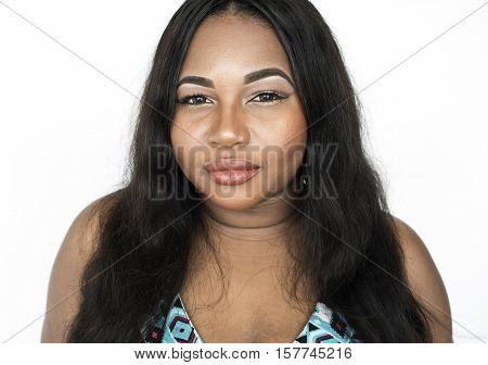 African American Pretty Positive Attractive Concept