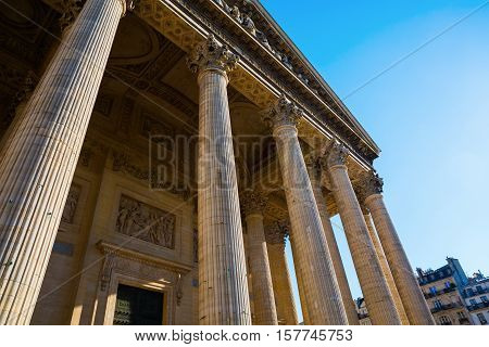 Historic Pantheon In Paris, France