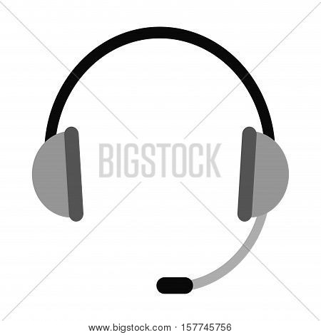 Headphone icon. Technical service online support service and telemarketing theme. Isolated design. Vector illustration