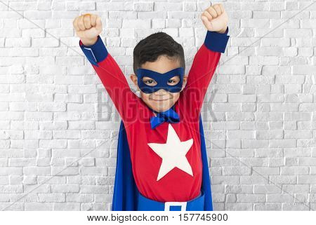 Superhero Boy Child Courageous Kid Concept