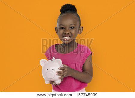 Little Girl Studio Portrait Concept