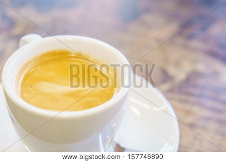 White Coffee cup on table in cafe