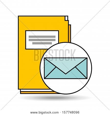 email folder directory book design vector illustration eps 10