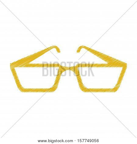 Glasses icon. Fashion style accessory and eyesight theme. Isolated design. Vector illustration