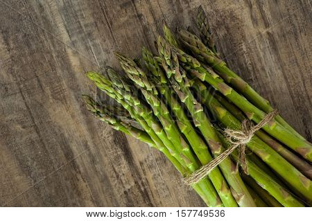 Extreme close-up image of fresh asparagus