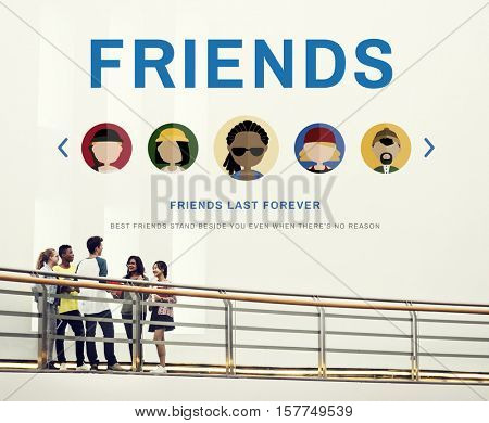 Friends Friendship Together Communication Concept